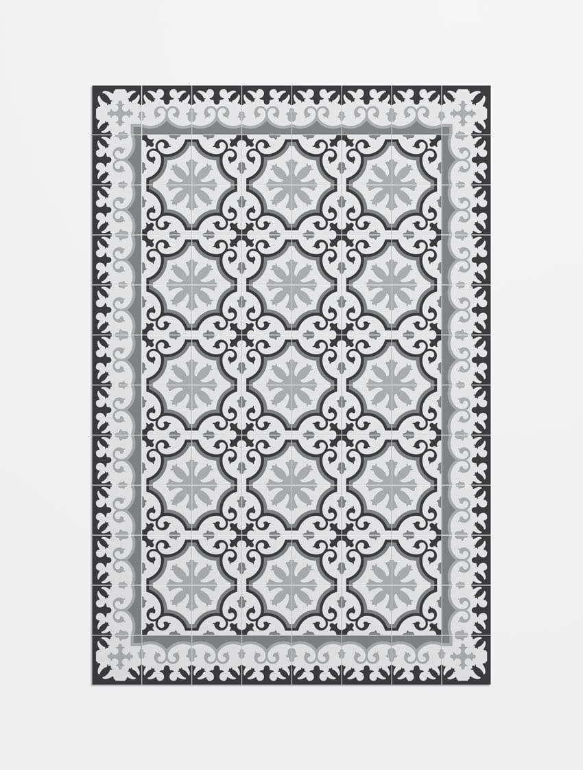 Alfombra avenir imitaci n suelo mosaico hidr ulico for Alfombras imitacion suelo hidraulico