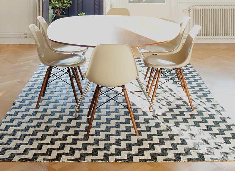 10 alfombras originales para tu hogar decoraci n de - Alfombras de comedor ...