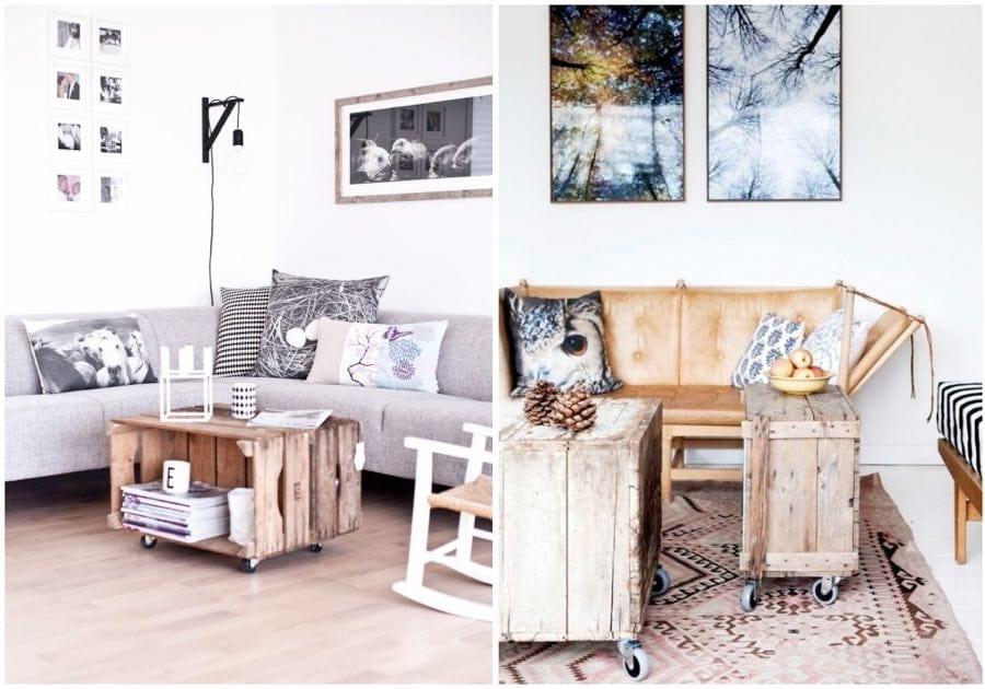 Diy decoraci n y muebles con cajas de fruta de madera - Cajas de fruta de madera para decorar ...