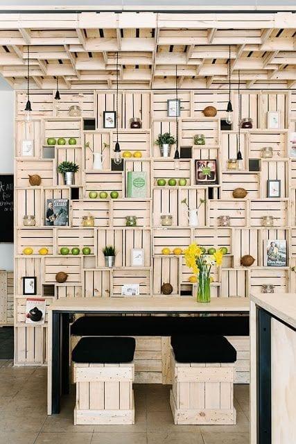 Diy decoraci n y muebles con cajas de fruta de madera - Estanteria cajas fruta ...