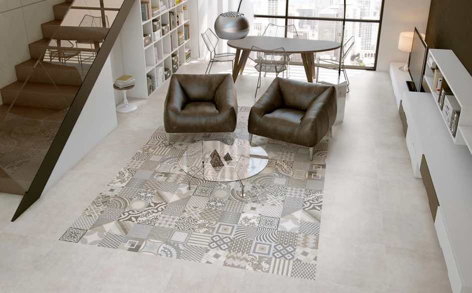 Imitate antique tiles