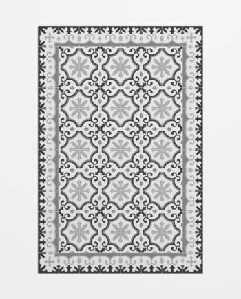 Alfombra imitación mosaico modernista floral-avenir