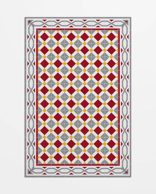 Imitación del mosaico hidráulico tradicional