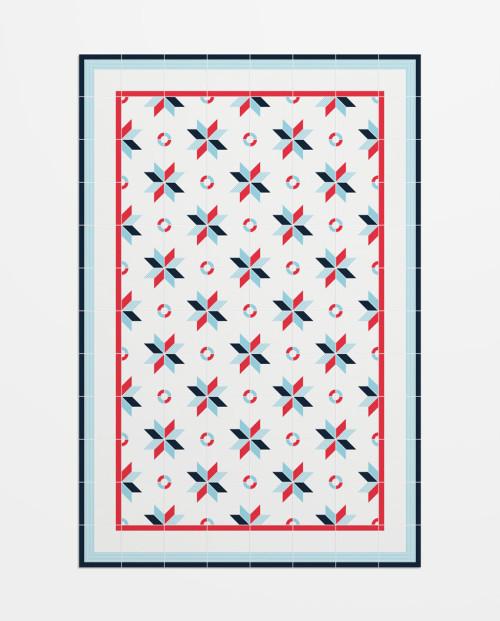 alfombra baldosas hidraulicas