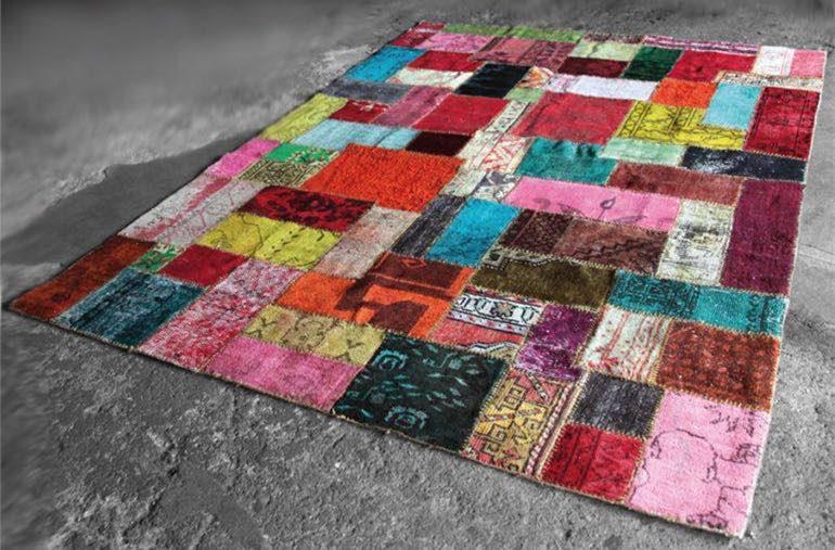 Alfombras patchwork vintage retro