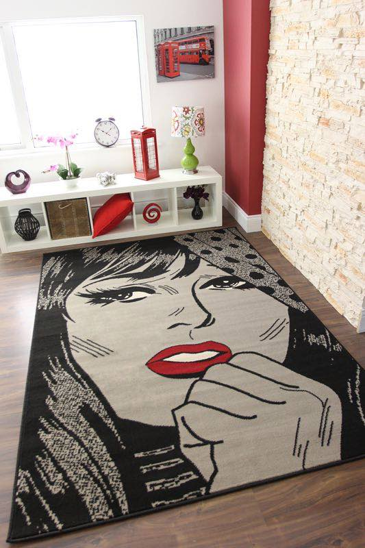 alfombra pop art retro