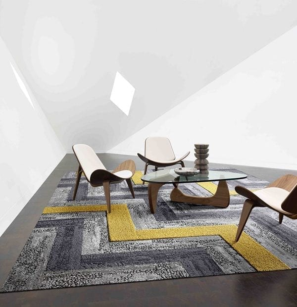 Geometrical shape carpets