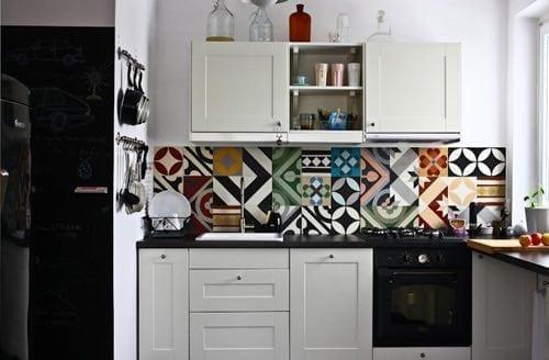 alfombra vinilica cocina pared