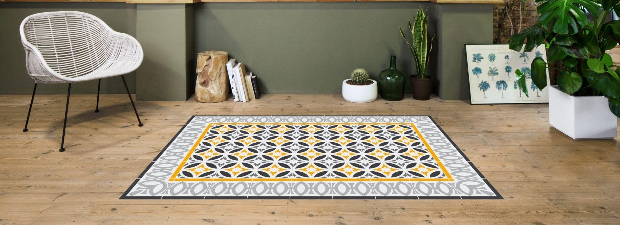 Alfombras que reproducen baldosas hidr ulicas for Tipos de alfombras