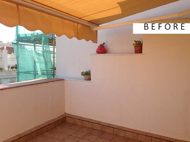 el antes y despues terrazas