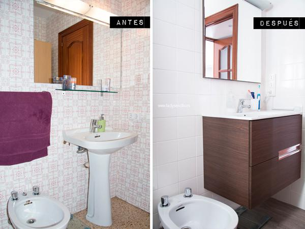 Bathroom decoration before & afetr