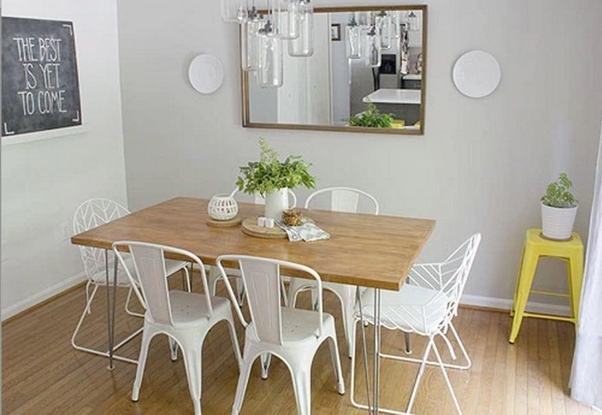 comedor decoracion madera blanco