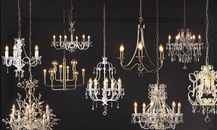 decorar-con-lámparas-de-araña