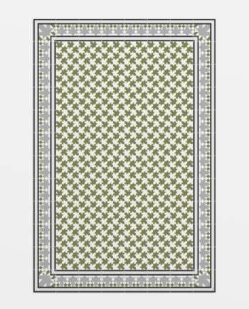 alfombra vinílica suelo hidráulico Hidraulik petritxol verdes