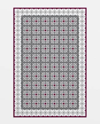 alfombra vinílica imitación suelo hidráulico Ganduxer