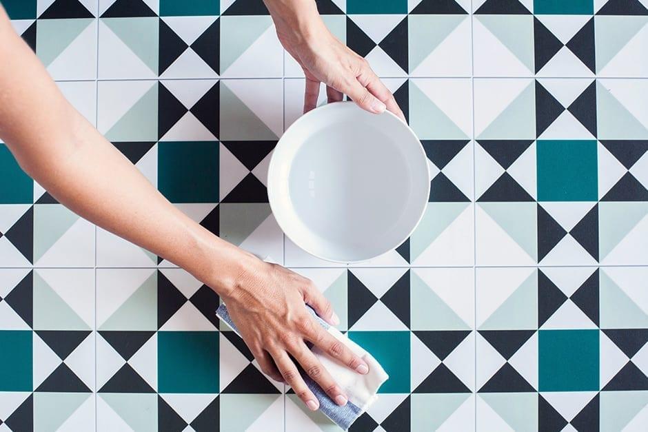 alfombra lavable con agua y jabón