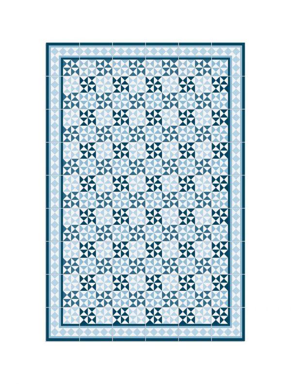 alfombra azules hidraulik drassanes 120x180