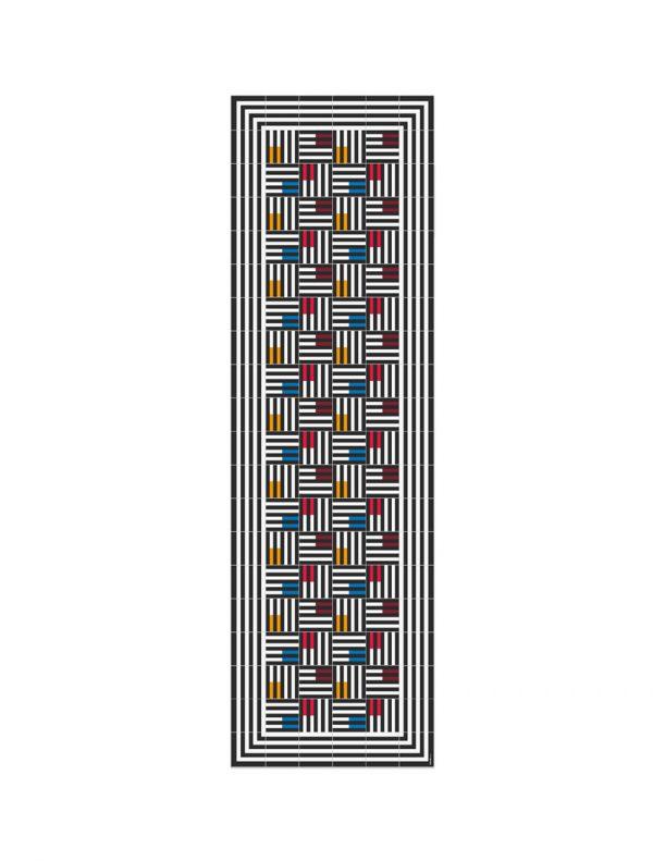 alfombra vinilica azulejos casanova hidraulik 60x200